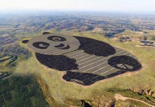 Панда, которую видно из космоса, оказалась солнечной электростанцией