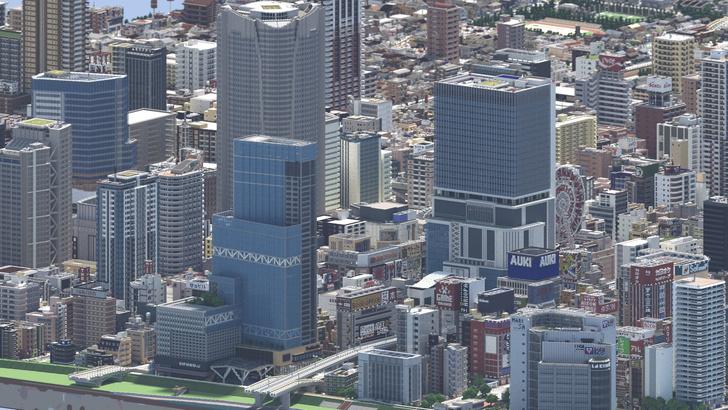 Фото №1 - Японец четыре года строил город в Minecraft (видео)
