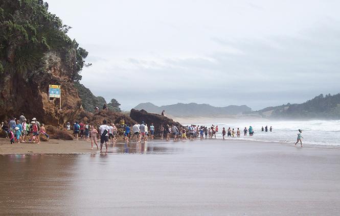 Hot Water beach, Новая Зеландия