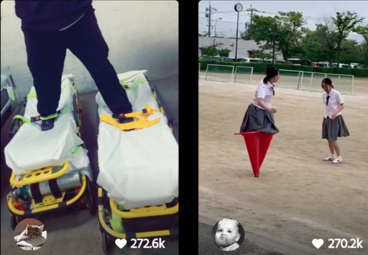 Фото №1 - В новом челлендже «Пройди милю» люди ходят, нацепив на ноги предметы обихода, и он максимально странный (видео)