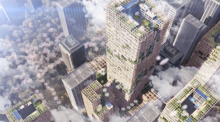 Фото №1 - Японцы построят деревянный небоскреб
