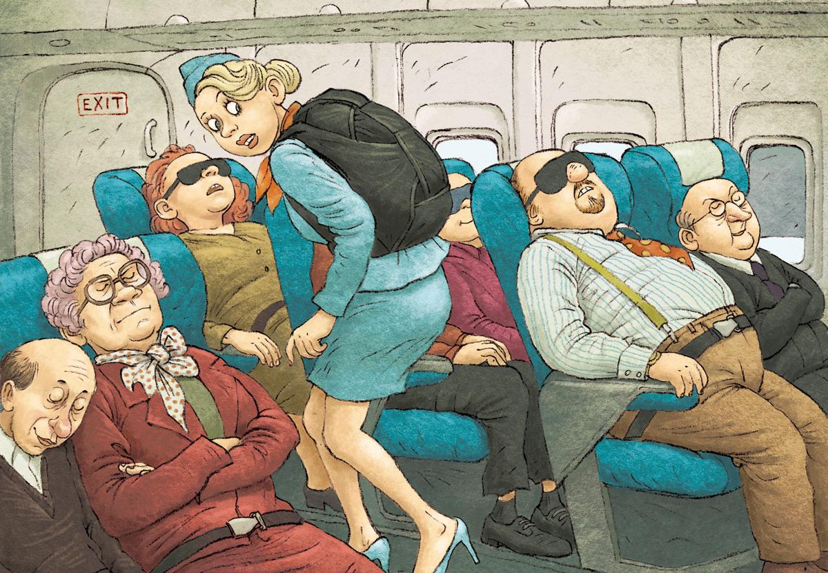 Секс в воздухе в самолте
