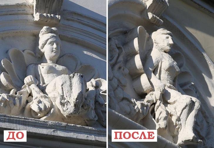 Фото №1 - После реставрации горельефы дома XIX века изменились до неузнаваемости
