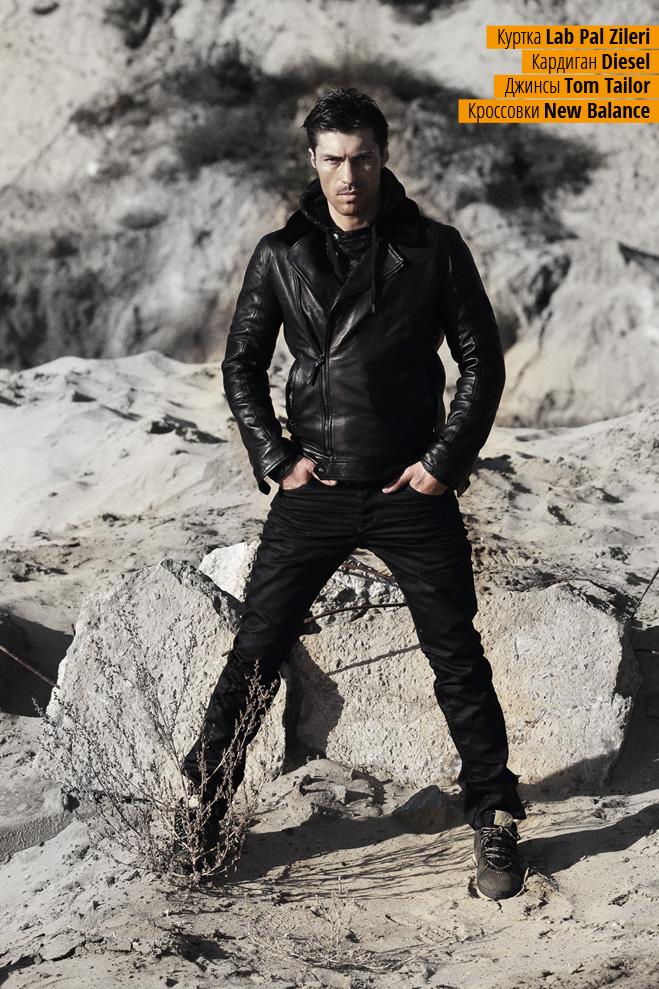 Куртка Lab Pal Zileri,  кардиган Diesel, джинсы Tom Tailor, кроссовки New Balance