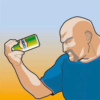 Фото №2 - Как эффектно расплющить пивную банку лбом