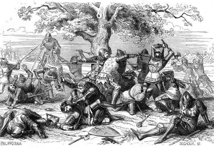 Фото №2 - Бой тридцати: легендарная битва Столетней войны