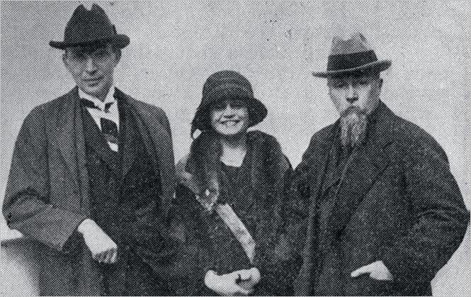 Луис Хорш с женой и Николай Рерих. 1922 год