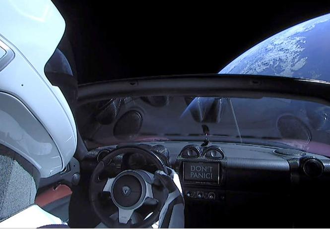 запущенная космос tesla упасть землю