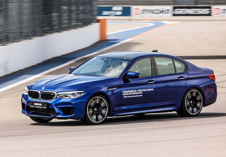 Фото №1 - Тест BMW M5, машины по превращению резины в дым