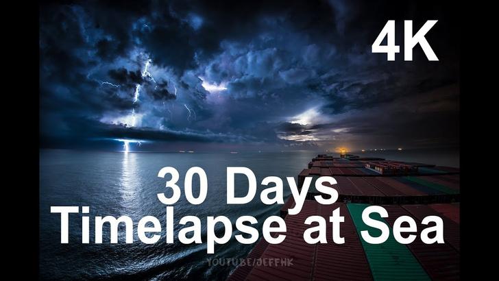 Фото №1 - Штиль и шторм: 30-дневное путешествие контейнеровоза за 10 минут (видео для медитации)