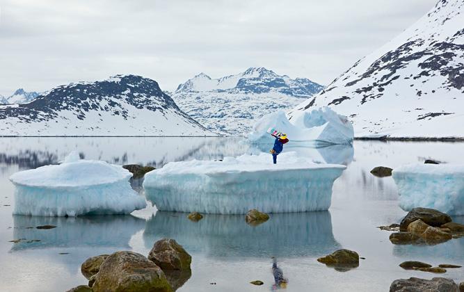 Гренландия  Залив «Долина Айсбергов»
