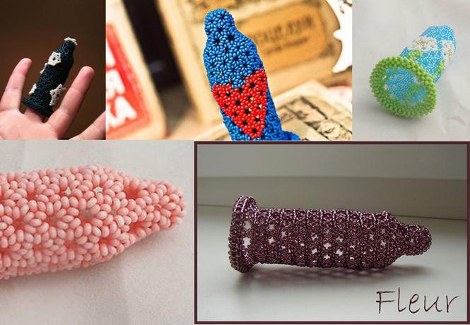 Сделано с любовью! Новое хобби девушек — плетение презервативов из бисера!