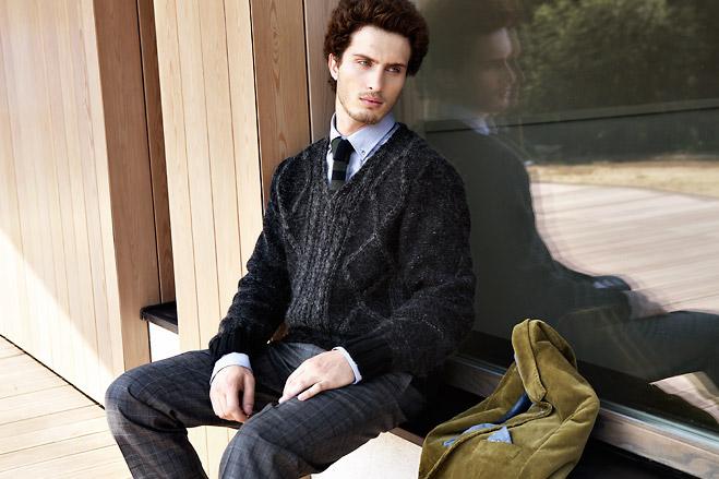 Пиджак Marc O'Polo, джемпер Pal Zileri Lab, рубашка Lacoste, брюки Pal Zileri