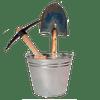 Ведро, лопата и кирка