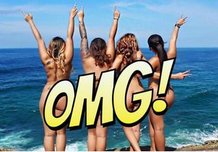 Австралийские нудистки призывают любить свое тело. Лучшим из существующих способов!