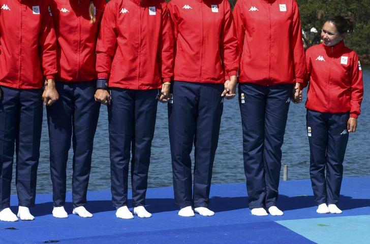 Так выглядит женская восьмерка сборной Румынии в академической гребле