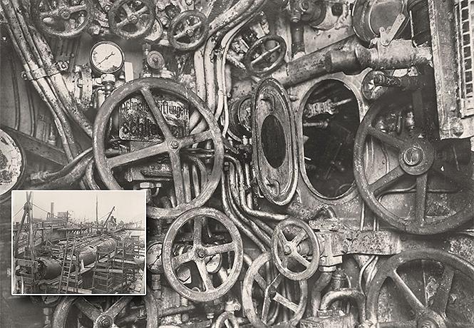Фото №1 - Как это выглядело: немецкая субмарина Первой мировой внутри и снаружи