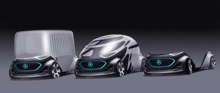 Фото №3 - Mercedes-Benz придумал машину со сменными кузовами