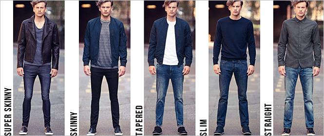 Фасоны джинс