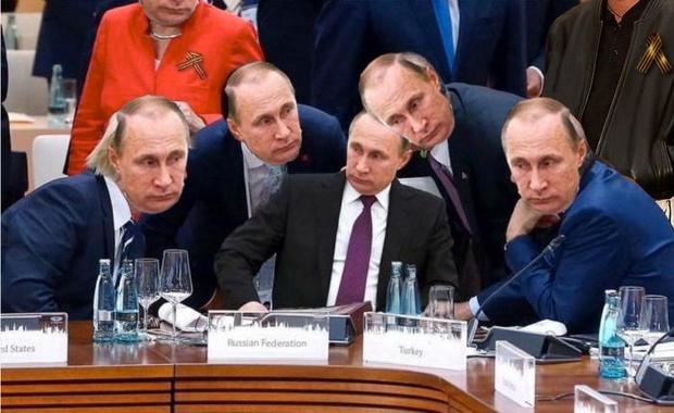 Фото №7 - Масштаб личности: лучшие шутки о прифотошопленном Путине на саммите G20
