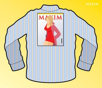 Фото №1 - Как сложить рубашку с помощью журнала