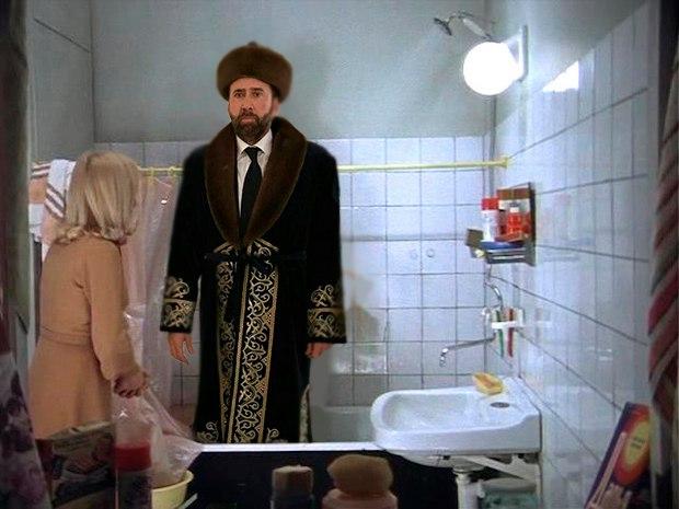 Фото №22 - Лучшие фотожабы на Николаса Кейджа в Казахстане