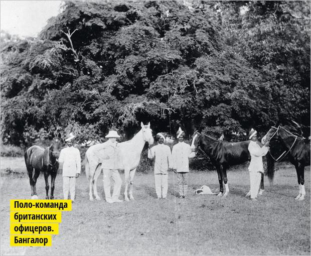 Поло-команда британских офицеров Бангалор