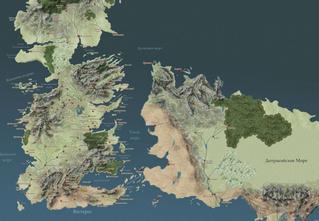 Ликуй, фанат «Игры престолов»! Карта Вестероса впервые на русском!