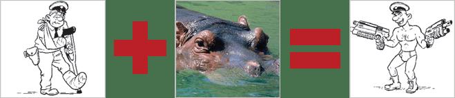 Гиппопотамы экипированы кожей толщиной 4 см