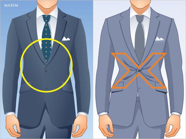 Застежка пиджака