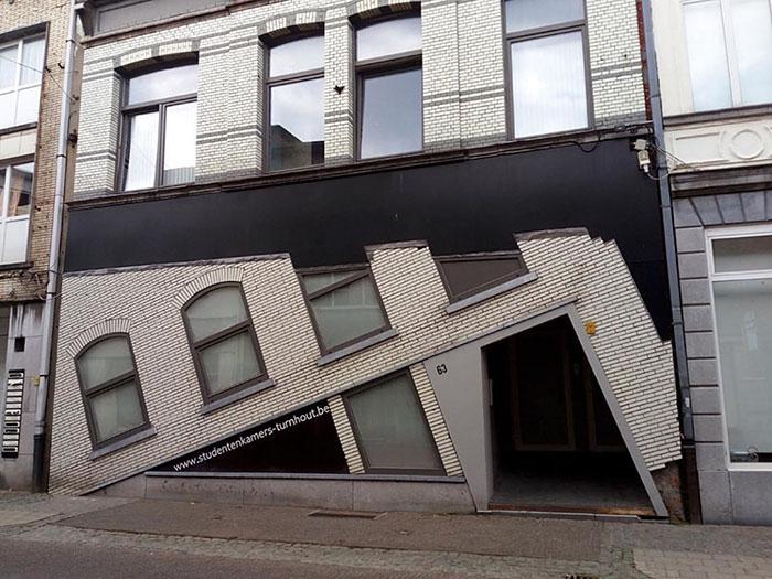 Фото №1 - Находка недели: фотогалерея самых уродливых бельгийских домов