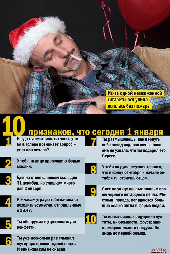 10 признаков, что сегодня 1 января