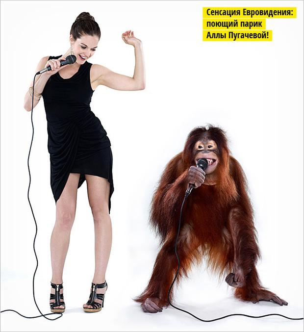 Девушка и обезьяна