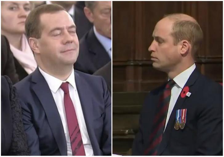 Фото №1 - Не Медведевым единым: журналисты увековечили вздремнувшего принца Уильяма!