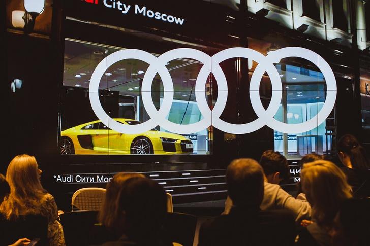 Фото №1 - Показ фильма «Афера по-английски» прошел среди иномарок Audi