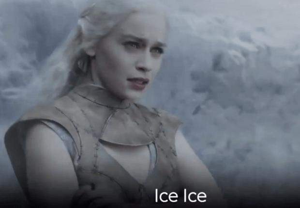 Фото №1 - Эпичный клип, в котором герои «Игры престолов» исполняют песню Ice Ice Baby