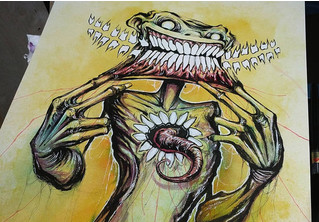 Художник сделал кошмарные иллюстрации к популярным фобиям