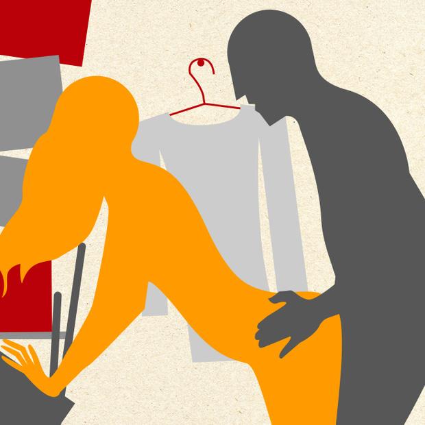 Секс с коллегой в подсобке