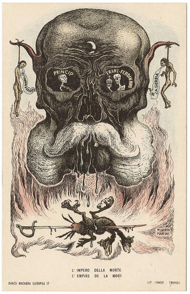 Фото №7 - Жутковатые карикатуры Первой мировой