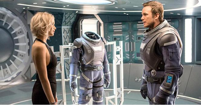 Дженнифер Лоуренс без скафандра в трейлере фильма «Пассажиры»!