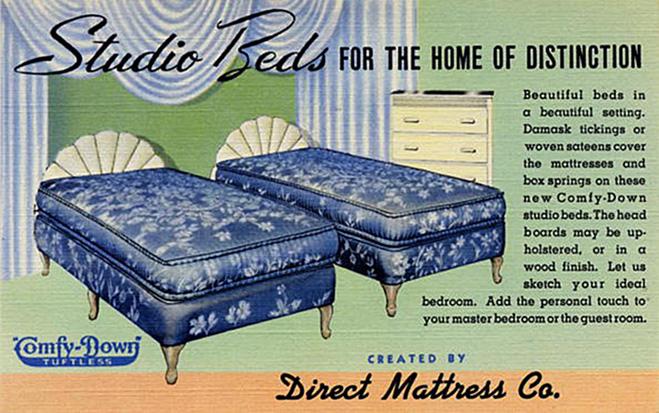 Кровати для супружеской спальни 50-х годов