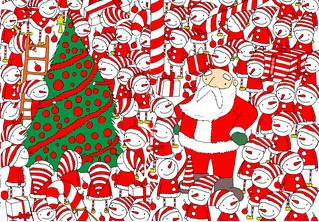 Новогодняя головоломка: найди колпак Деда Мороза на этой картинке, спаси праздник