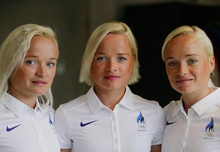 Эстонские сестры-тройняшки Лили, Лийна и Лейла Луйк