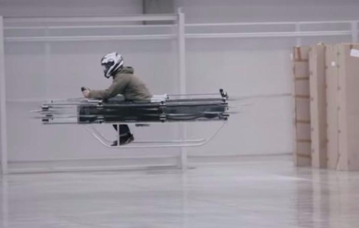 Фото №1 - Ого! «Летающий мотоцикл» Калашникова в действии! (ВИДЕО)