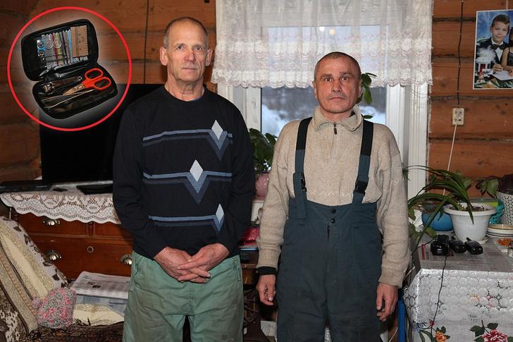 Фото №1 - Уральским охотникам за спасение потерявшихся в лесу детей подарили педикюрные наборы
