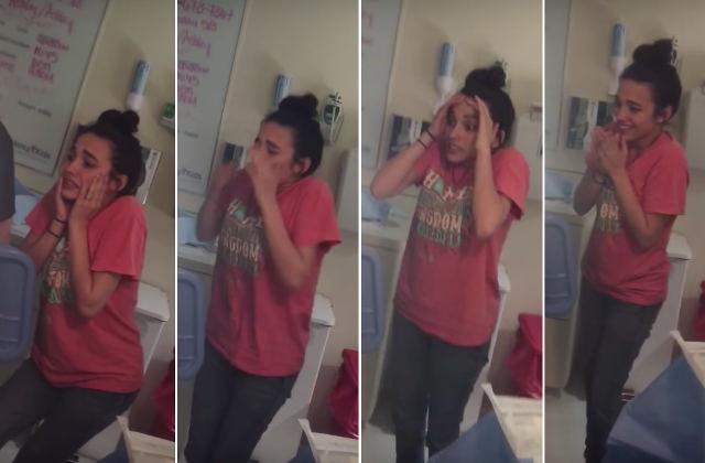 Фото №1 - Вся гамма чувств человека, впервые увидевшего роды, за 22 секунды (видео)