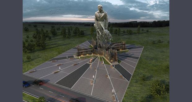 Фото №2 - Вот такой мощный памятник советскому солдату поставили подо Ржевом
