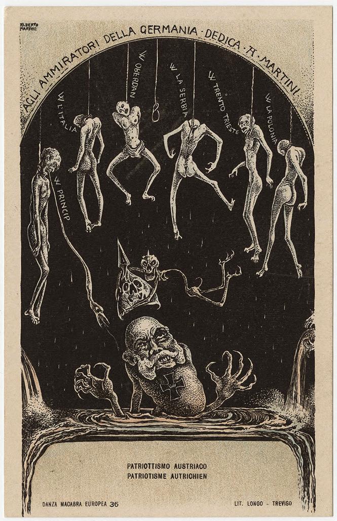 Фото №47 - Жутковатые карикатуры Первой мировой
