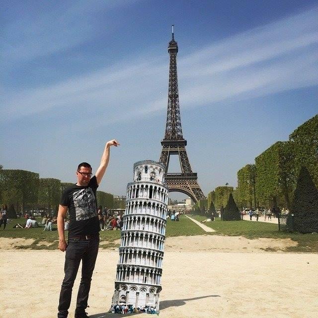 Фотошоп с Эйфелевой башней
