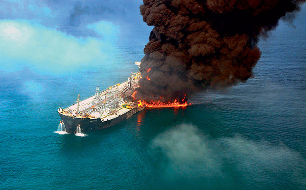 Пожар на танкере Kashmir